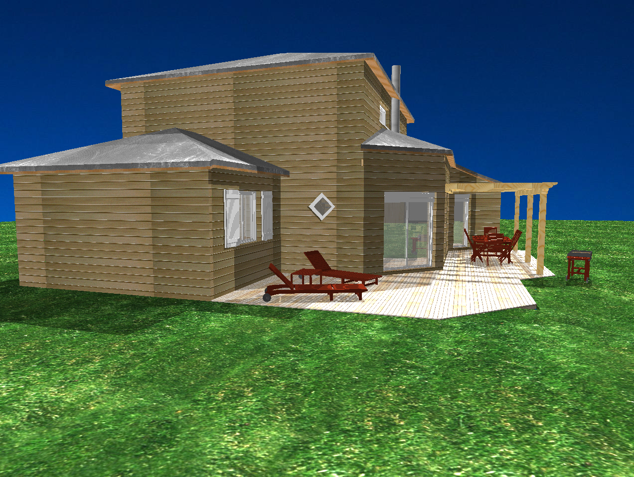 Realisation des plans de notre maison bioclimatique for Maison bioclimatique plan